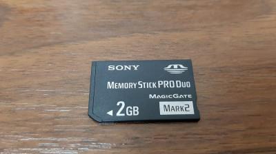 CARD SONY MEMORY STICK PRO DUO MAGICGATE 2 GB , MARK 2 foto