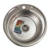 Chiuveta bucatarie rotunda inox MIXXUS Z490-06-180MD,microDECOR,Adanca 180 mm