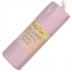 Cearceaf din bumbac cu elastic, 70×140 + 14 cm, roz