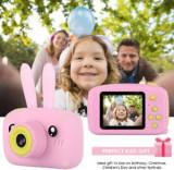 Camera foto- video copii cu video Rabbit Kids , OEM, Roz, +3 ani