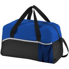 Geanta de umar, poliester 600D si material netesut, Everestus, EY02, negru, albastru, saculet si eticheta bagaj incluse