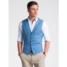Vesta premium, eleganta, barbati - V46-albastru-inchis