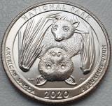 Monedă 25 cents / quarter dollar 2020 USA, National Park, American Samoa, P/D, America de Nord