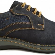 Pantofi barbati casual din piele nabuc cu siret Otter 9549