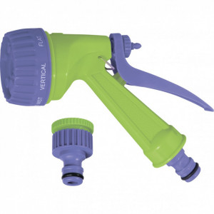 Set udat; furtun spir. 7.5mx10mm+conect., adaptor robinet 1/2-3/4,pistol...