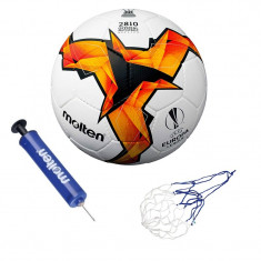 Minge fotbal Molten F5U2810,UEFA 2019, pompa si plasa incluse
