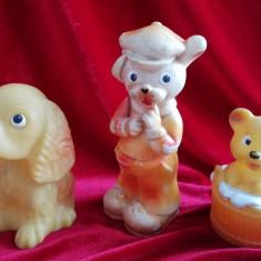 Lot 3 figurine cauciuc Arădeanca fiecare cu serie, anii 80