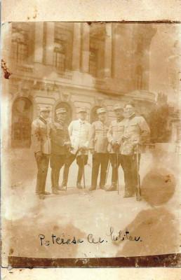 Fotografie ofiteri romani cu sabii anii 1920 foto