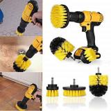 Set Perii pentru Mocheta and Uz Caznic / Profesional - MyStyle - Detailing Carpet Brush cu Adaptor Bormasina