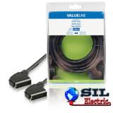 Cablu SCART Tata - SCART tata 3.0 m negru, Valueline