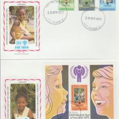 Grenada 1979 - copii UNICEF, serie + colita FDC