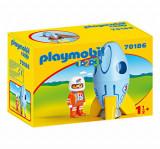 Playmobil 1.2.3 - Astronaut Cu Racheta