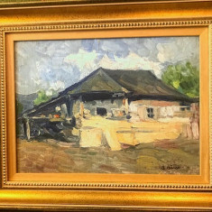 Casa la tara - Aurel Baesu, Peisaje, Ulei, Impresionism