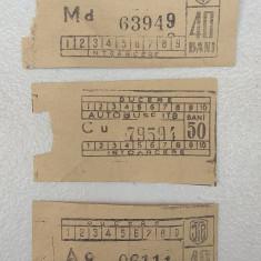 Bilete vechi de colectie, tichet ITB, calatorie autobuz tramvai