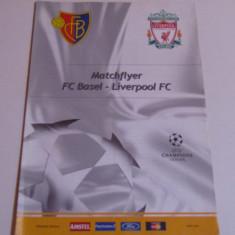Foaie de meci fotbal FC BASEL-FC LIVERPOOL(Champions League 12.11.2002)