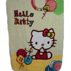 Paturica groasa Hello Kitty 110 x 80 cm Disney HK03B, Galben