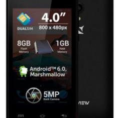 Telefon Mobil Allview A5 Ready, Procesor Quad-Core 1.30GHz, TFT LCD Capacitive touchscreen 4inch, 1GB RAM, 8GB Flash, 5MP, Wi-Fi, Dual Sim, 3G, Androi