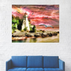 Tablou Canvas, Farul din Port - 40 x 50 cm