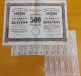 Actiune 500 lei 1925 Cassa de Pastrare, Targu Mures
