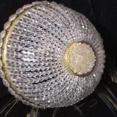 Lustra cristal Bohemia, armatura aurita