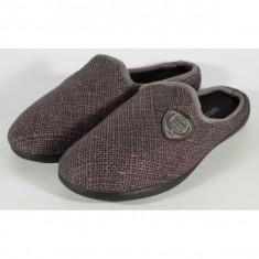 Papuci de casa maro cu bleumarin din plus - 11998