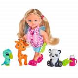 Cumpara ieftin Papusa Evi Love 12 cm Baby Safari cu Figurine si Accesorii, Simba