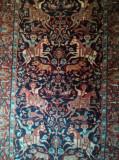 Covor iranian de colecție, lucrat manual, model cavaleri, 160 x 95 cm