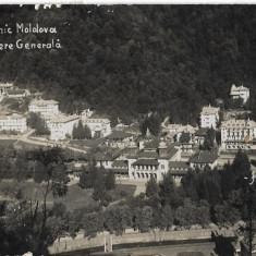 Carte postala Slanic Moldova vedere generala interbelica