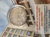 Moneda BNR proof 75 de ani de la înființarea Universității de Vest din Timișoara