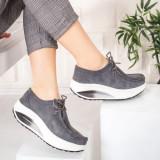 Pantofi dama Piele gri Bunazi