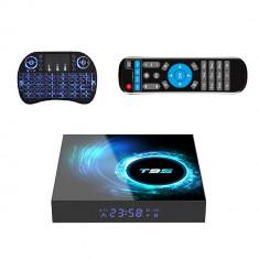 Adaptor smart TV box T95 ,4/32 GB RAM 2020 Android 10, Negru, 6K + Tastatura I8