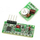 Set pereche module radio, wireless emitator si receptor rf 433Mhz pentru arduino