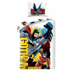 Lenjerie de pat copii Cotton Batman BM-4004BL