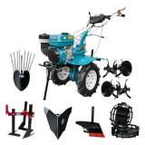 Motocultor HS 1000B, roti metalice, plug, rarita fixa, prasitoare, plug cartofi, 7 CP