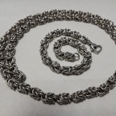 COLIER argint si BRATARA argint SET MASIV manopera EXCEPTIONALA vintage SPLENDID