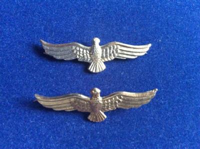 Insigne militare - Insigne România - Semne de armă - Aviație (culoare argintie) foto