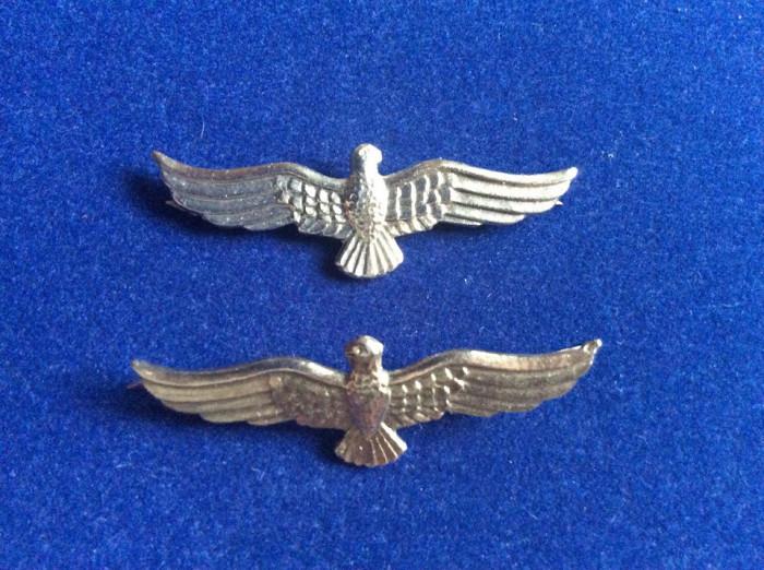 Insigne militare - Insigne România - Semne de armă - Aviație (culoare argintie)