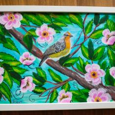 """Tablou pictura acrilica """"Nesting"""""""