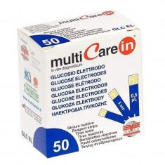 Teste glucoza pentru aparatul Multicare-IN, 50 teste/cutie