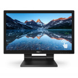 Monitor touchscreen LED TN Philips 21.5, Full HD, Display Port, 1ms, Negru