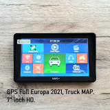 "NAVIGATII 2021. GPS 7""HD,16GB, Special Camion - TRUCK FULL EU Tir, Nou, Toata Europa, Lifetime, Oem"