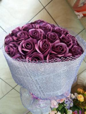 Buchet cu 31 trandafiri de sapun foto