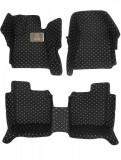 Cumpara ieftin Covorase presuri 5D din piele Dacia Sandero 2 2013-2019 Lux Tip Tavita dedicate Negru+Bej