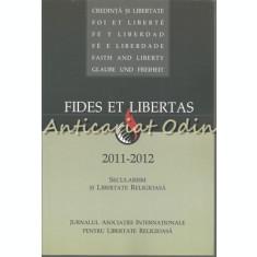 Fides Et Libertas 2011-2012 II - Secularism Si Libertate Religioasa