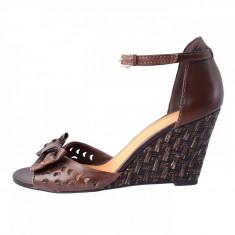 Sandale dama, din piele naturala, marca Marco Tozzi, 28384-2, maro