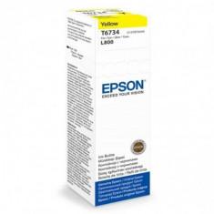 Cartus cerneala epson t6734 yellow capacitate 70ml pentru epson l800