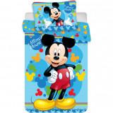 Set lenjerie pat copii Mickey Child 100x135 + 40x60 SunCity JFK016695, Albastru