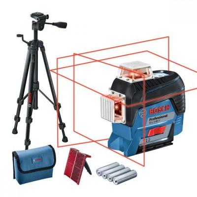 Bosch GLL 3-80C+BT150 Set nivela laser cu linii, 30m, receptor 120m, precizie 0.3 mm/m foto
