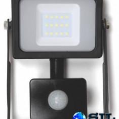 Proiector cu LED SMD cu senzor 10W 800lm IP44 4000K Well