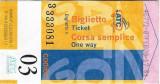 Pentru colectionari, bilet autobuz Italia